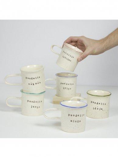 RaMi keramika puodelis- tylos 2