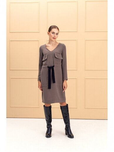 Saviti COPENHAGEN kakavos spalvos suknelė