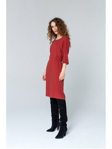 SAVITI BRIUSSELS rausva suknelė
