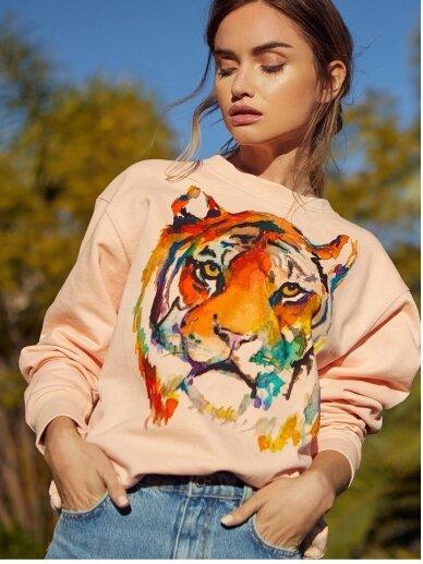 SILE rožinis medvilnės džemperis TIGER KATO 2