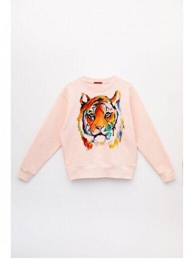 SILE rožinis medvilnės džemperis TIGER KATO 4