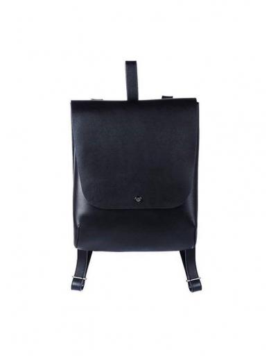 SJGOODS juoda  odinė kuprinė 2