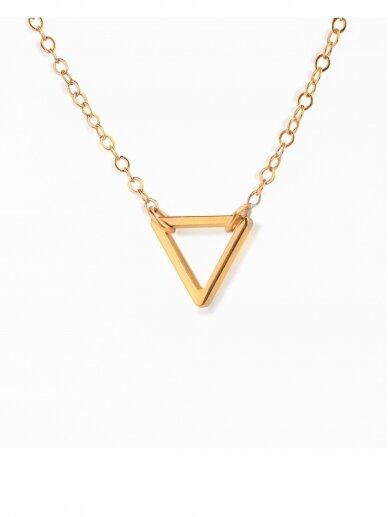 vdlg.aksesuarai minimalistinis kaklo papuošalas - Trikampis 2