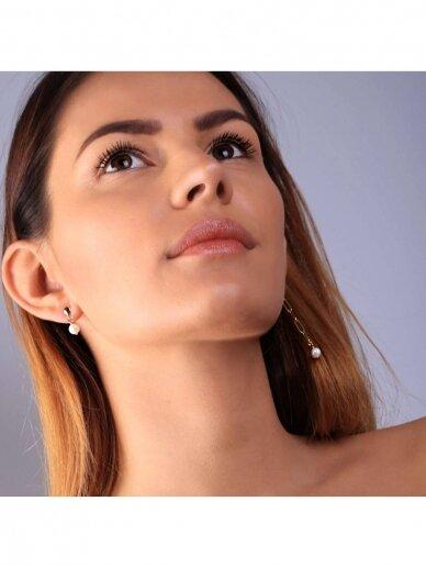 vdlgaksesuarai asimetriniai auskarai su gėlavandeniais perlais 3