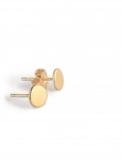 vdlgaksesuarai minimalistiniai apvalūs auskarai