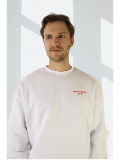 YUBO  vyriškas džemperis baltas